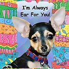 A Chihuahua Greeting Card  by Polly Peacock