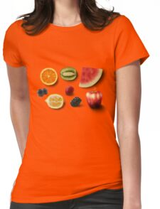 Fruit Salad Mix- Realistic Drawings Womens Fitted T-Shirt
