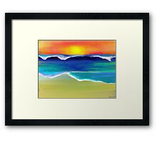 The Ocean Dance Framed Print
