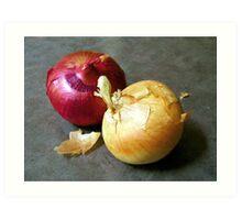 Two Onions Art Print