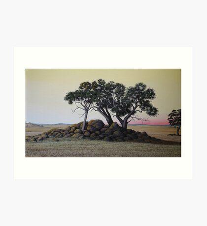 """""""The Cairn"""" 49x86cm, oil on linen. Art Print"""