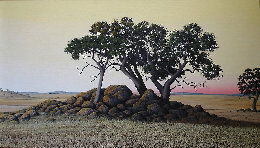 """""""The Cairn"""" 49x86cm, oil on linen. by Jason Moad"""