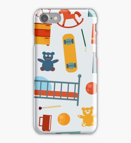 Children Bedroom Seamless Pattern with Toys iPhone Case/Skin