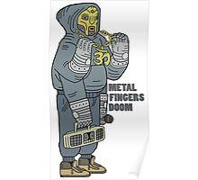 Metal Fingers Doom (Nehruvian) Poster