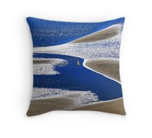 Sand and Sea, Settlers Beach, Cossack Throw Pillow