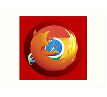 Browser mashup Art Print
