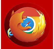 Browser mashup Photographic Print