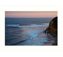 Twilight, Bells Beach Australia,Great Ocean Road Art Print