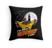 Real American Werewolf Throw Pillow