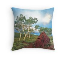 Karijini Landscape #1 Throw Pillow
