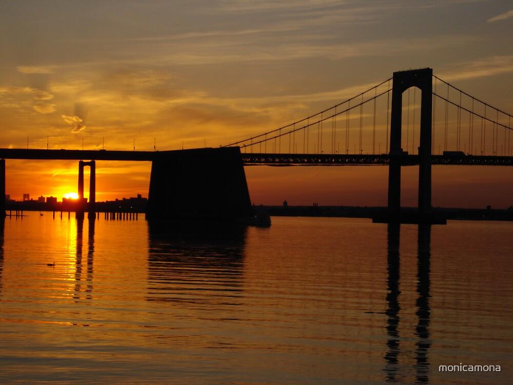 sunset by monicamona