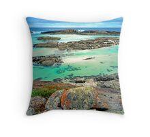 Colourful Coastline, South Western Australia Throw Pillow