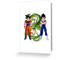 Saiyan Warriors Greeting Card