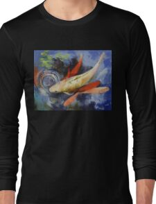 Koi and Water Ripples Long Sleeve T-Shirt