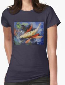 Koi and Water Ripples Womens Fitted T-Shirt