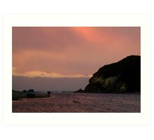 Sunset, Glen Aire Beach Art Print