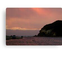 Sunset, Glen Aire Beach Canvas Print