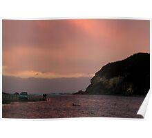 Sunset, Glen Aire Beach Poster