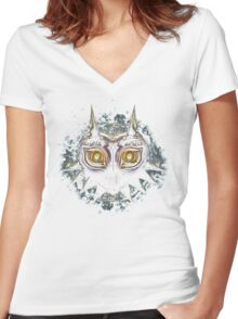 The Epic Evil of Majora's Mask Women's Fitted V-Neck T-Shirt