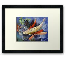 Koi and Water Ripples Framed Print