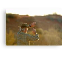 Desert Glare,Simpson Desert,Australia Metal Print