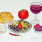 Wine and Olives by joeyartist