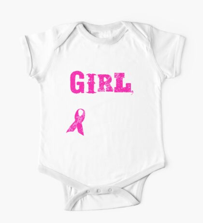 Girl You Better Check Yourself - Breast Cancer Awareness One Piece - Short Sleeve