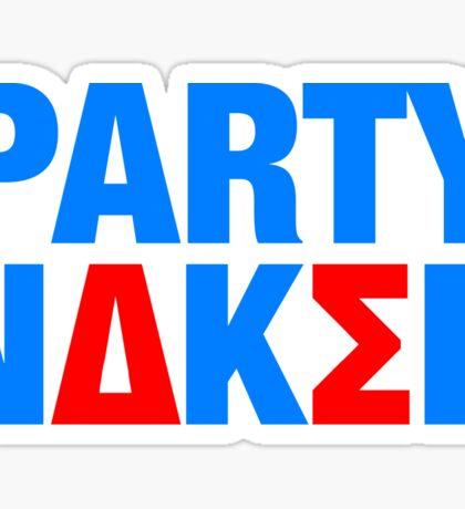 Party Naked Sticker