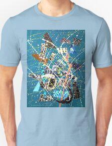 Blue Splash Collage 1951 Unisex T-Shirt