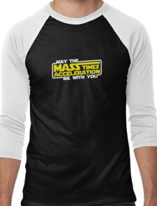 May the Mass x Acceleration Be With You Men's Baseball ¾ T-Shirt