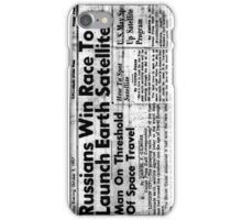 Space Race Blues iPhone Case/Skin