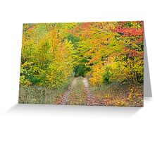 Autumn Two Track Greeting Card