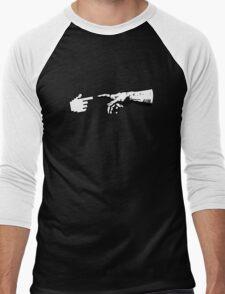 God and The Machine Hands Men's Baseball ¾ T-Shirt