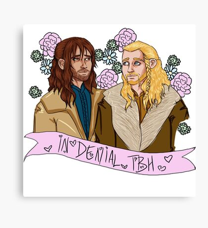 Fili and Kili - in denial about the Battle of the Five Armies Canvas Print