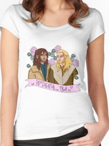 Fili and Kili - in denial about the Battle of the Five Armies Women's Fitted Scoop T-Shirt