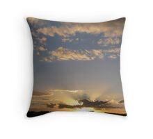 Golden Rays begining to show!! Throw Pillow