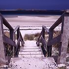 Beach and Walkway by John Violet