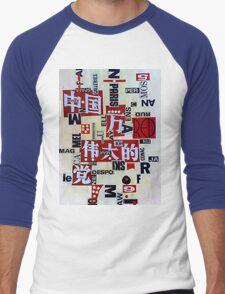 Asia Red Men's Baseball ¾ T-Shirt