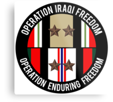 OIF and OEF deployments Metal Print