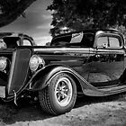 1934 Ford 3-window Coupe - B&W by PhotosByHealy
