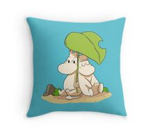 The moomins drawing Throw Pillow
