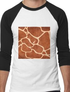 Giraffe Skin Pattern Surface Stains Lines                                      Men's Baseball ¾ T-Shirt