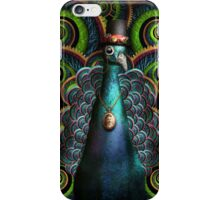 Steampunk - Pretty as a peacock iPhone Case/Skin