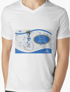 For A Sweet Baby Boy On His First Christmas Mens V-Neck T-Shirt