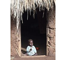Baby at Home, Uganda Photographic Print