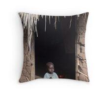 Baby at Home, Uganda Throw Pillow