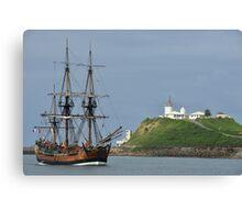 THE ENDEAVOUR REPLICA SAILING SHIP Canvas Print
