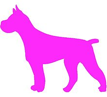 Pink Pit Bull Silhouette by kwg2200