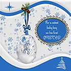 For A Sweet Baby Boy On His First Christmas Pillow & Tote by Vickie Emms