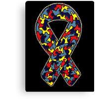 Autism Ribbon Canvas Print